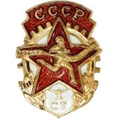 Значок ГТО 1 степени: odvin.ru/articles/znachki_gto